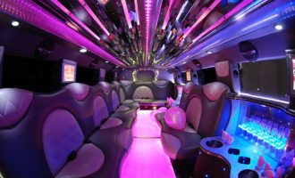 Cadillac Escalade Fort Myers limo interior