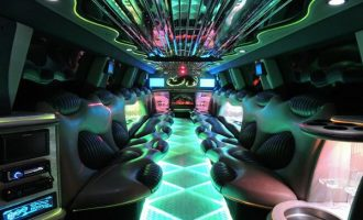 Hummer limo Ft Myers interior